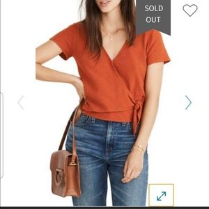 Madewell texture and thread wrap front top. M.
